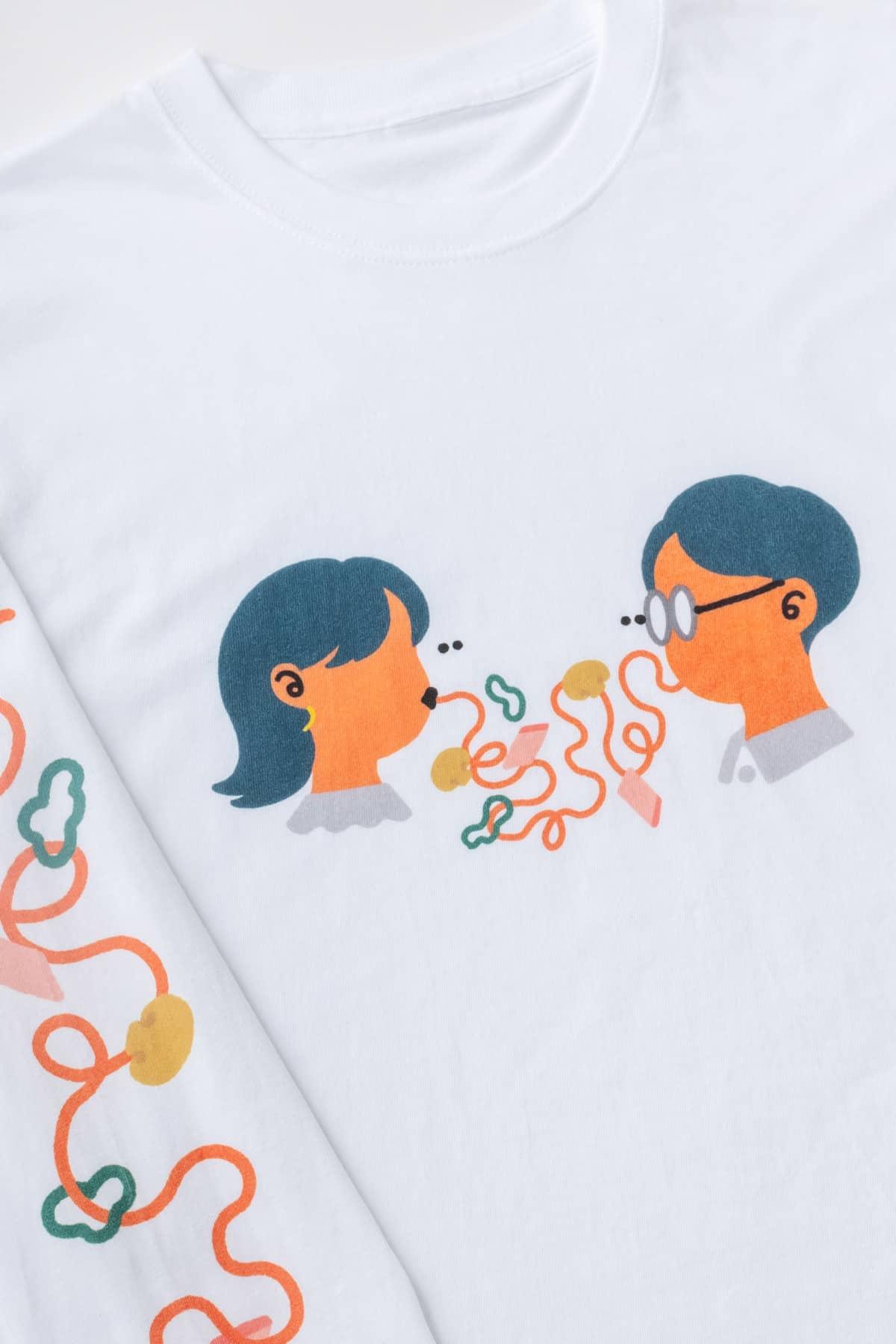 ナポリタン・ラブ ロングスリーブTシャツ/サイトウアケミ